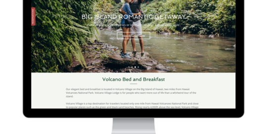 Volcano Village Lodge Website Design