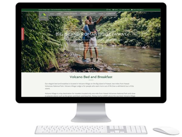 Volcano Village Lodge Website Design